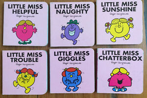 Set of 6 LITTLE MISS Board Books 6 for $10