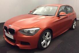 2014 ORANGE BMW 116D 2.0 M SPORT DIESEL MANUAL 5DR HATCH CAR FINANCE FR £41 PW