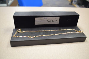 "Figaro-Link 10k Yellow Gold Chain - 9 Grams, 22"" Length"