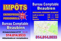 IMPÔTS & COMPTABILITÉ EN RETARD ENTREPRISES & PARTICULIERS 39$ +