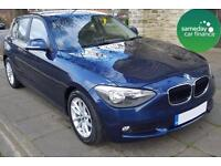 £226.39 PER MONTH BLUE 2012 BMW 116 1.6D EFFICIENT DYNAMICS 5 DR DIESEL MANUAL