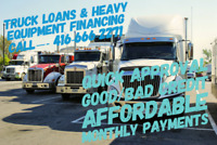 TRUCK LOANS & HEAVY EQUIPMENT FINANCING——LET US KNOW