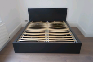 Ikea Malm Queen Size Bed Frame With Storage And A Free Chair