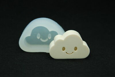 2D Smile Cloud, Silicone Mold Chocolate Polymer Clay Jewelry Soap Wax Resin