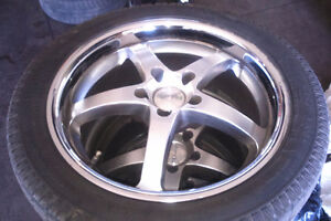 """Four winter tires 17""""on Mags in excellent condition"""