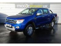 2013 Ford Ranger Pick Up Double Cab Limited 2.2 TDCi 150 4WD Plus vat rear...