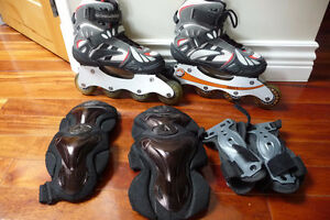 Mongoose Inline Skates – Boy's Size 6 (or Woman's 7-8)