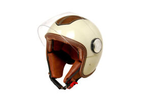 Casque jet / Jet helmet scooter/motorcycle (blanc/white)