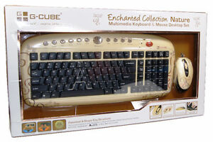 Fashion Wired Keyboard and Mouse by G-Cube