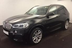 2016 BLACK BMW X5 3.0 XDRIVE40D M SPORT 7 SEAT DIESEL 4X4 CAR FINANCE FR £142 PW