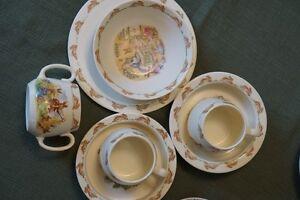 Royal Doulton Bunnykins cups,bowls, and sihes