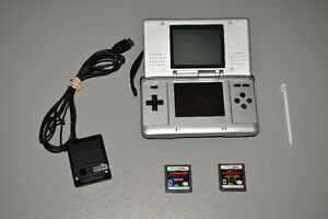 Original Nintendo DS with Power Supply, 2 Games and Stylus Pen