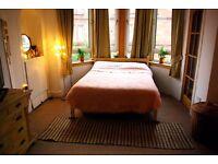 King size pine bed - slight break