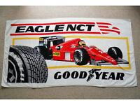 Vintage F1 Ferrari Goodyear Beach Towel