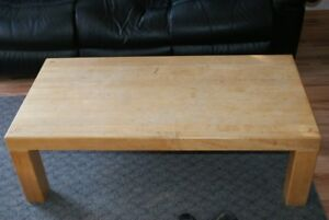 Solid Wood Coffee Table & 1 End Table