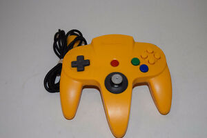 Authentic Yellow N64 controller