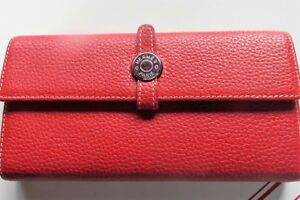 Authentic Hermes France women's Wallet Red Dogon style