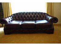 Leather 3 seat Chesterfield Sofa