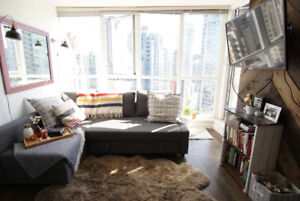 Furnished 2 br/2ba Yaletown apartment for rent - avail. Dec 2017