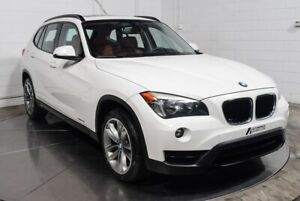 2014 BMW X1 AWD CUIR TOIT PANO MAGS INT ROUGE