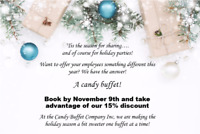 Corporate/Company Holiday Party 15% discount if booked by Nov 9