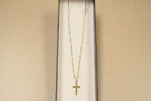 10K Gold chain w/ cross pendant(#3345-2)