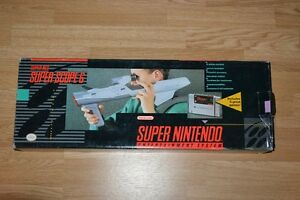 Super Nintendo Super Scope 6, box and manuals