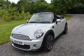 MINI ONE 1.6 Salt CONVERTIBLE WHITE/SILVER 2012 17 ALLOY HEATED SEAT DAB BLUETOO