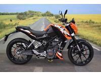 KTM Duke 125 **Excellent Condition, ABS, Datatag Protection**