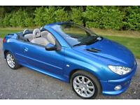 Peugeot 206 1.6 Coupe Cabriolet Allure convertible 2007 BLUE LEATHER CRUISE AC