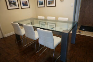 Glass Dining Custom Table for Sale! Great Condition