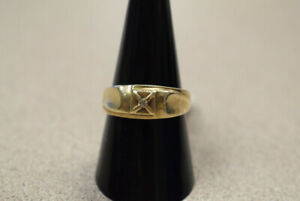 10K Mens Yellow Gold Ring With Diamond (#3007)