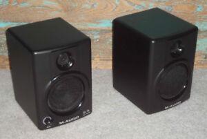 M-Audio AV30 powered monitors