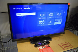 "Insignia 24"" LED SMART HDTV With Roku - NEW with Remote"