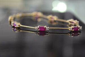 14K Gold 2.45ct Diamond and Ruby Bracelet (Appraised)