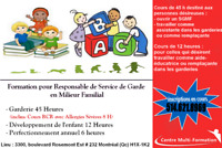 Formation Garderie 45h/12h/Perfectionnement 6h