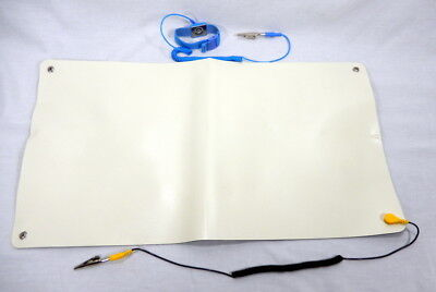 """ESD Anti Static Mad with Ground and Wrist Strap Electronics Repair 21"""" X 11 3/4"""""""