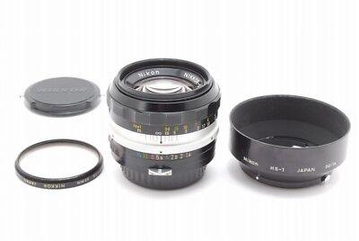 【N.MINT】Nikon Nikkor S.C Auto 50mm f/1.4 non-Ai Lens, Hood Filter from Japan#u09