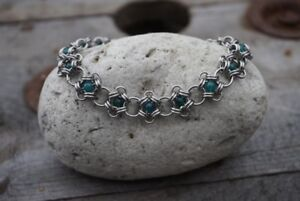 Stainless Steel Bracelets and Semi-Precious Stones