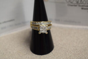 Appraised 14KT Gold Engagement Ring/Band, 1.46ct (#314)