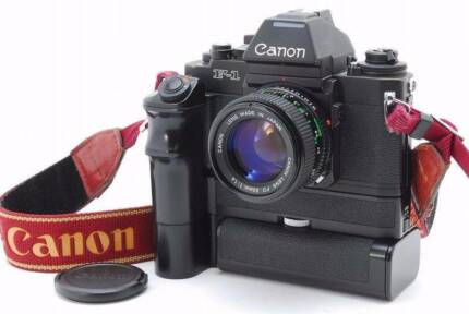 CANON NEW F-1 w/FD 50mm f1.4 lens - MINT!!! SONY MIRROLESS NIKON