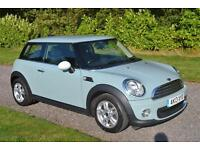 MINI ONE 1 6 ICE BLUE 2013 6 SPEED BLUETOOTH AC ALLOYS DAB RADIO