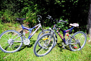 His & Hers  21 sp. Mountain Bikes