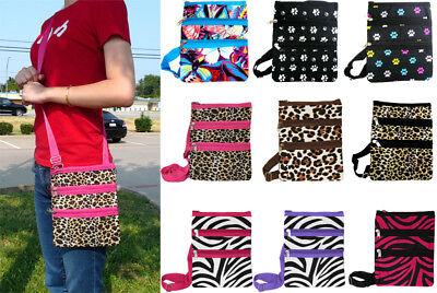 Animal Print Messenger Cross-body Bag Purse Hipster Shopping Shoulder (Print Shoulder Bag)