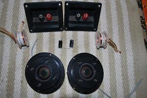 *Pair* Vintage Philips Dome Tweeters AD 0160 T8 8Ω tweeters. Moorabbin Kingston Area Preview