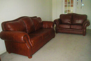 Extremely Luxury 100% Genuine Leather Sofa Set, Delivery Availab