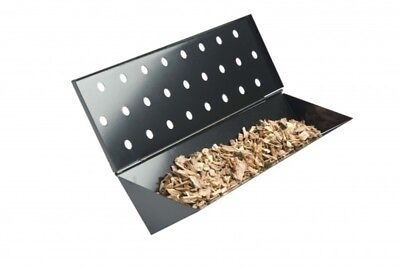 Large V Shaped Wood Chip Smoker Box for Gas Grills  Charcoal Companion CC4057