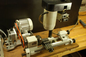 Unimat 3 lathe and mill lots of accessories, DC Servo drive