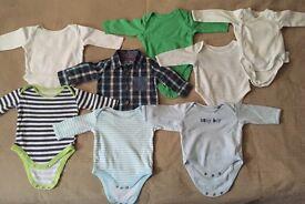 Long sleeved vests (0-3 months)