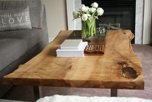 Rustic Natural Edge Slab Wood Coffee Tables Toronto
